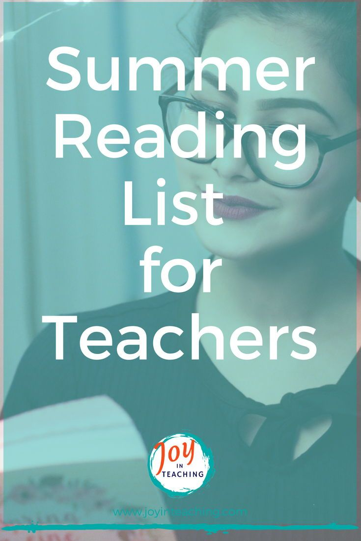 Summer Reading List For And By Teachers >> Summer Reading List For Teachers Teacher Professional