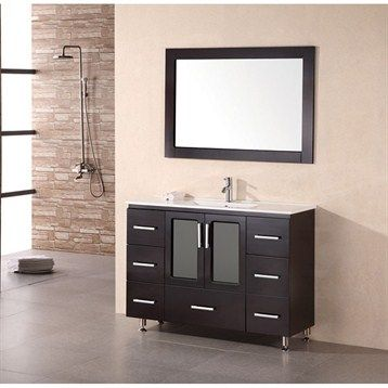 Design Element Stanton 48 Inch Single Sink Vanity Set In Espresso. Find  This Pin And More On Metal Leg Bathroom ...
