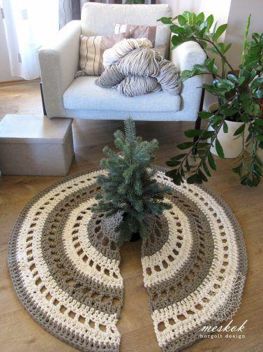 Crochet rug for christmas tree  http://meskok.hu/termekek/horgolt/kerekerdo-fenyotalp-takaro-szonyeg/