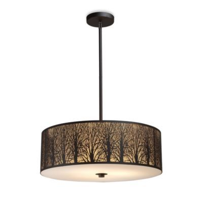 This fixture is going in my livingroom. ELK Lighting Woodland Sunrise 5-Light Pendant in Aged Bronze - BedBathandBeyond.com