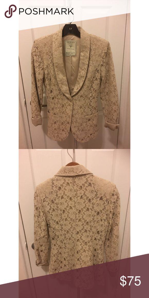 Womens cream lace jacket