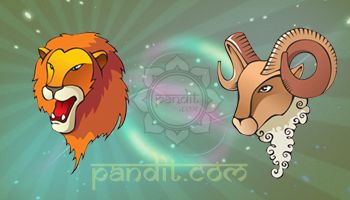 LEO AND ARIES by Acharya Rahul Kaushal  -------------------------------------------------------- This is a red- hot combination as both are inclined to be leaders which can lead to possible competition and power struggles in the beginning. Once the impulsive Aries dares to rush into the lion's lair, the intelligence and energy of the Aries can be beautifully complemented by the romantic and warm- hearted nature of the Leo. http://www.pandit.com/leo-love-sign-compatibility/