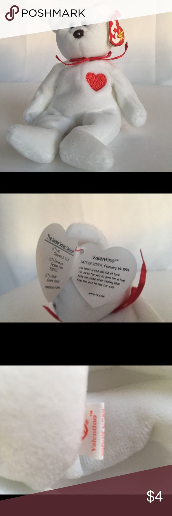 TY Beanie Baby - Valentino Preowned, TY Beanie Baby - Valentino TY Other