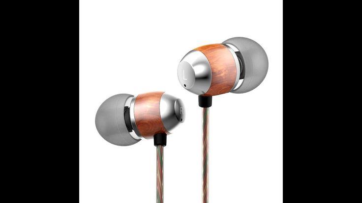 APIE Premium Genuine Wood Corded In-ear Headphones Earbuds