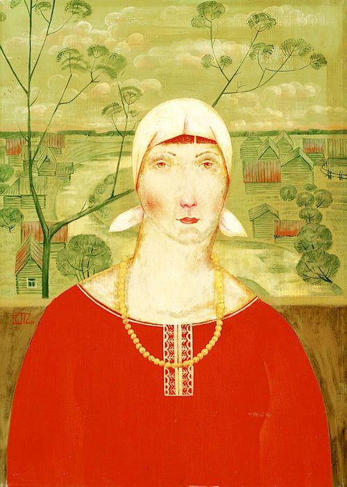 Женский портрет. Сандырев Иван Тарасович (1932–2002)