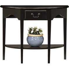 Favorite Finds Slate Finish Demilune Table