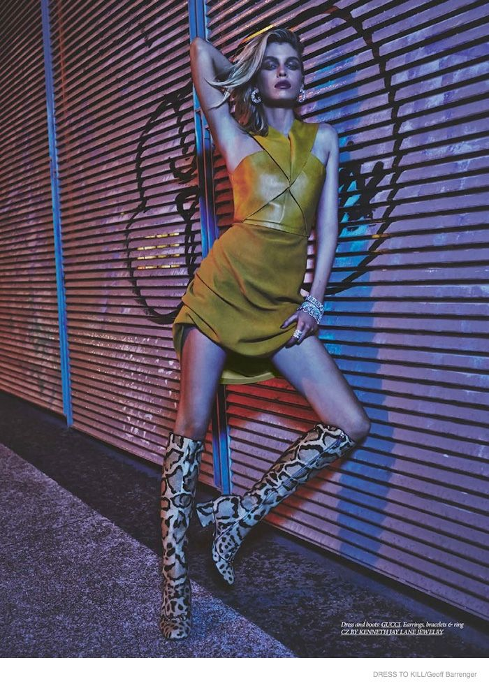 Stella Maxwell Wears Nighttime Fashions for Dress to Kill by Geoff Barrenger