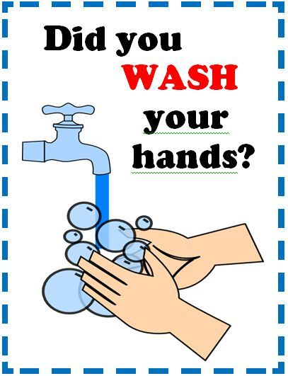 I wanted a simple poster to remind students to wash hands. (Posting a sign makes hand washing more likely.)