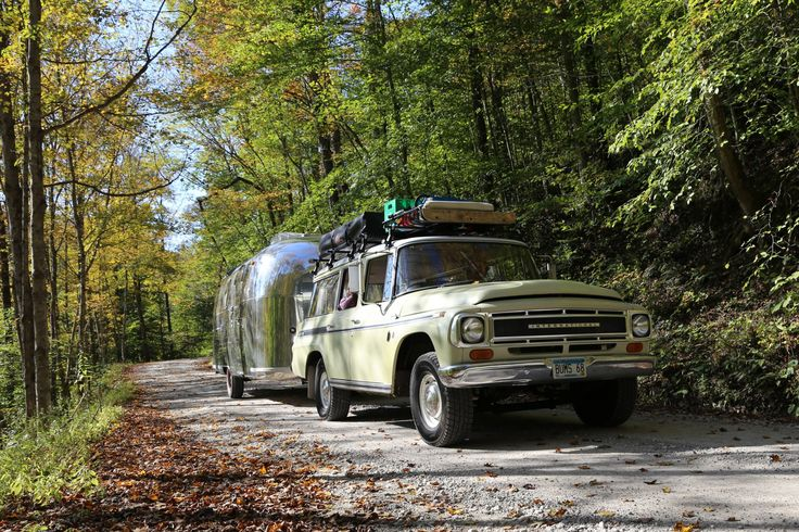 Airstream -- On the way to Asheville, NC, with both beautiful weather and a beautiful changing of the seasons. | pinned by haw-creek.com