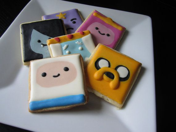 """Adventure Time Cookies with Royal Icing 