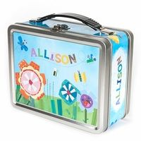 NEW! Personalized Lunch Box with a chalkboard inside for cute notes to make your child's day!