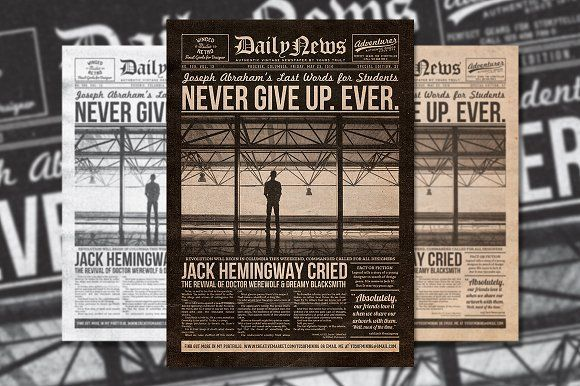 @newkoko2020 Vintage Newspaper Flyer Template by Yusof Mining on @creativemarket #bundle #set #discout #quality #bulk #buy #design #trend #vintage #vintagegraphic #graphic #illustration #template #art #retro #icon
