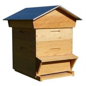 Ruche Dadant, conseillér par notre prof d'apiculture...  Ce sera pour dans un an ou deux... En vert lime!
