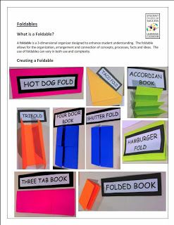Foldables (to use with lapbooks or notebooking)
