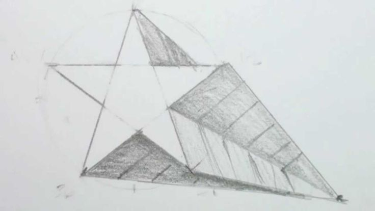 How to Draw a 3D Star Shape - Draw a Star in One-point ...