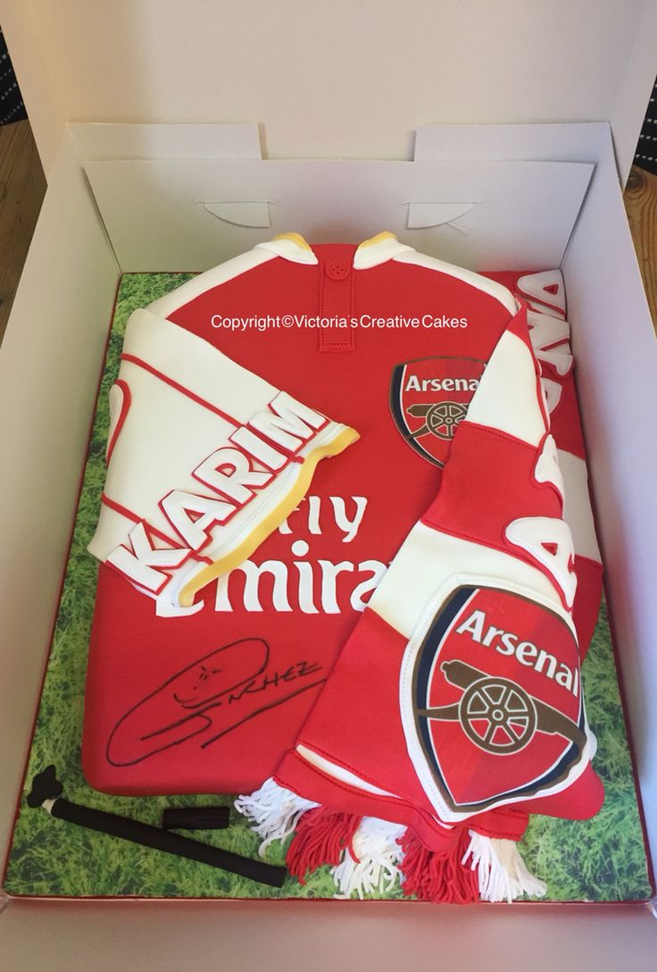 Arsenal Shirt Cake Design Perfectend for