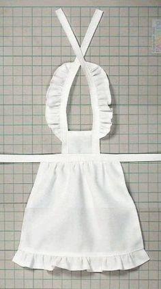 """Como Fazer Roupas Artesanais (camisa Refilmagem) """"Papupepo"""" de vestir-se boneca AVENTAL de babados"""