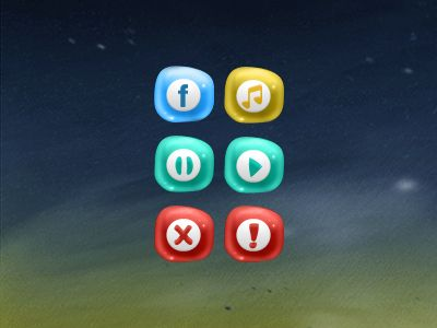 raster style art on a background from buttons