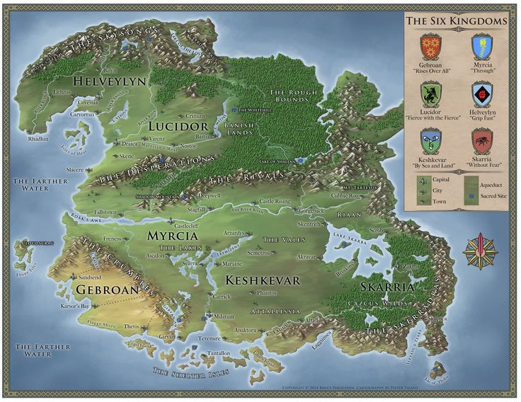 The Six Kingdoms by Viking on Cartographers Guild