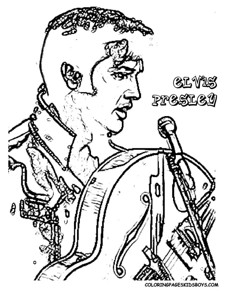 elvis presley hollywood movie star coloring 01 at coloring pages book