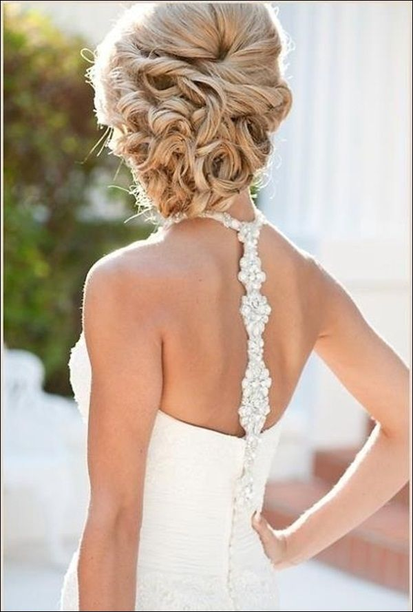 hmmm something a bit different....50 Elegant Wedding Updos For Long Hair and Short Hair @stephaniehillin