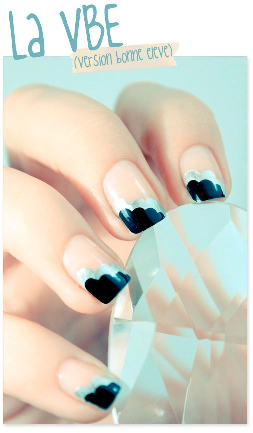 Clouds!!Nails Art Ideas, Nailart, Nails Design, Spring Nails, Black Nails, Nails Art Design, Art Deco, Art Nails, Flower Pattern