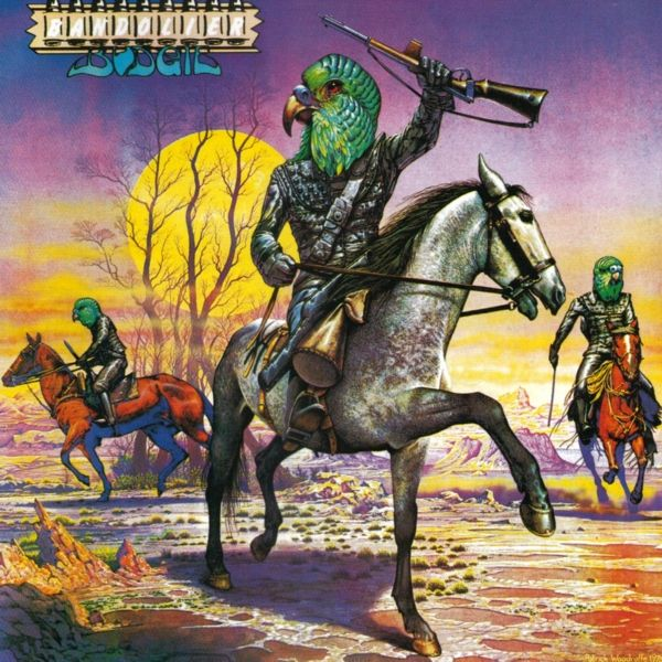Budgie Bandolier  Best album cover. Awesome band.