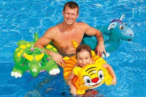 Kid Swim Ring Float Animals Tiger Dino Donkey pool beach swim ring  ages 3 to 6