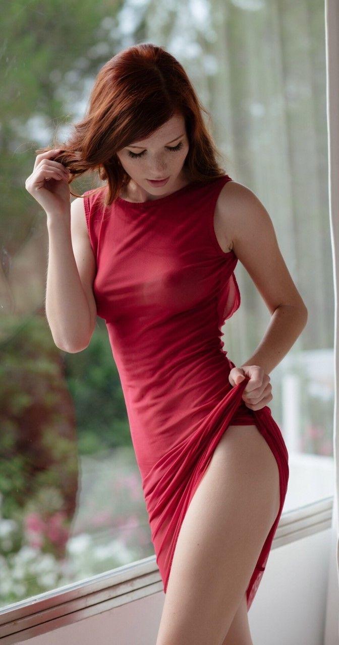 Horny redhead woman