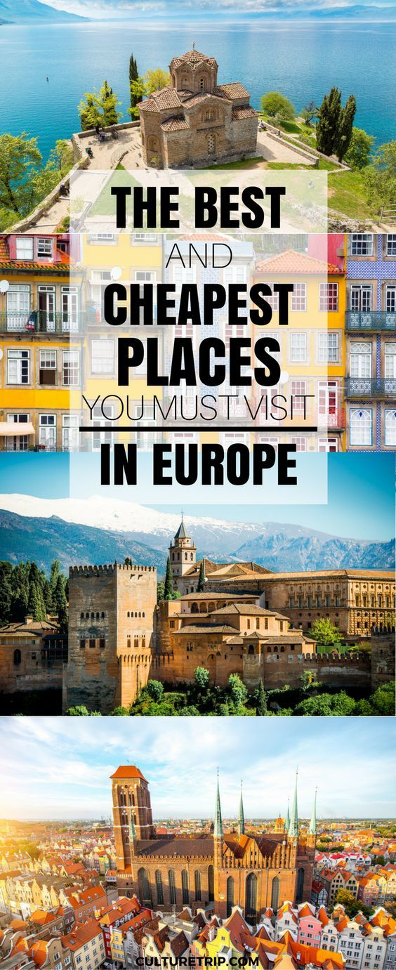 From Spain to Macedonia, Poland to Slovenia, these are the cheapest places to travel in Europe in 2017