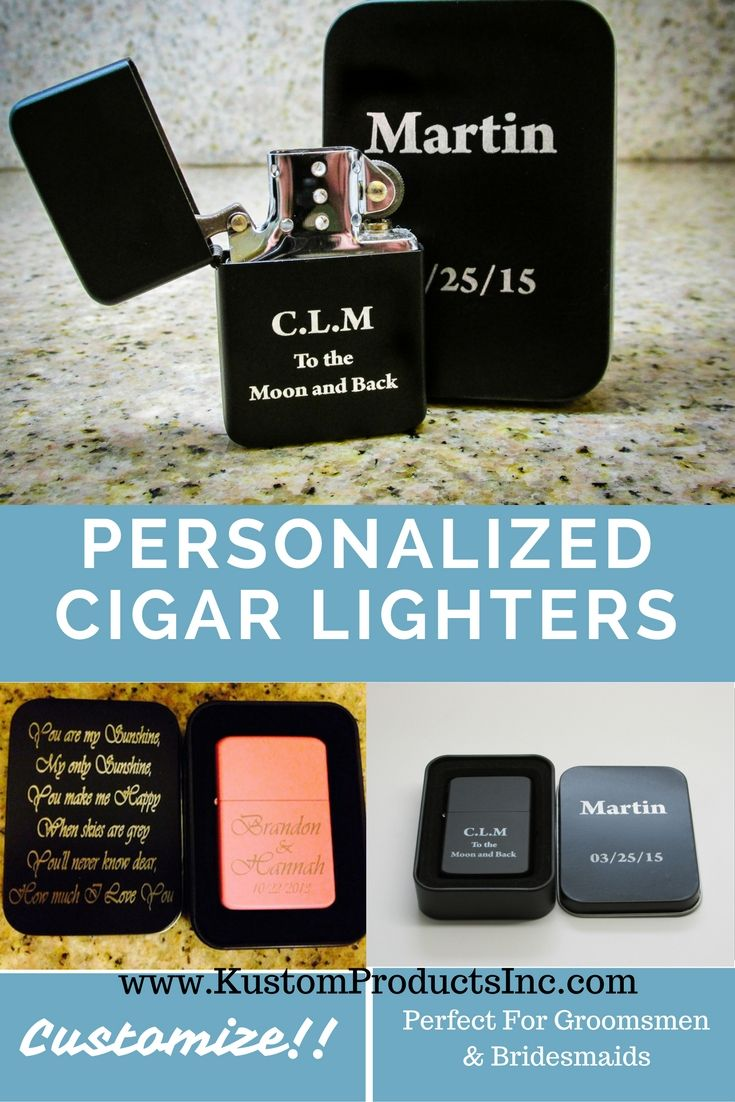 Groomsmen Gift Bridesmaid Stocking Stuffer Custom Engraved Lighter Our Products Pinterest Gifts Groomsman And