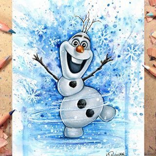 DRAWING OLAF FROM FROZEN Advent Day 3🎄You can watch me ...