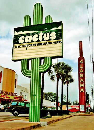 The old Cactus Records - bought many albums there - right down from the Alabama Theater, which was converted into a bookstore - Houston TX