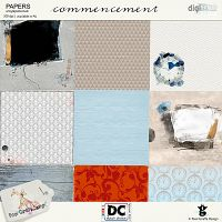 Commencement- artsy and patterned papers
