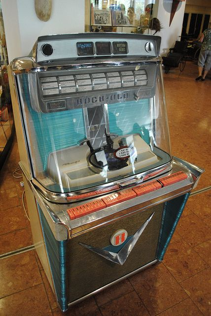 jukebox, selection of recordsrecord player, tapes, invite people to just hang out and chill...open mic night events