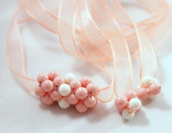 Bridesmade corsage necklace bracelet Swarovski by CrystalHandmade, $29.00