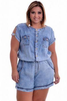Macaquinho Plus Size Jane