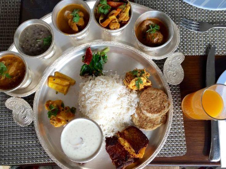 Traditional Nepali food DaalBhaatTarkaari