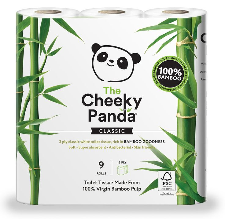 The Cheeky Panda FSC Bamboo Toilet Tissue - 9 Rolls | Natural Collection £4.99