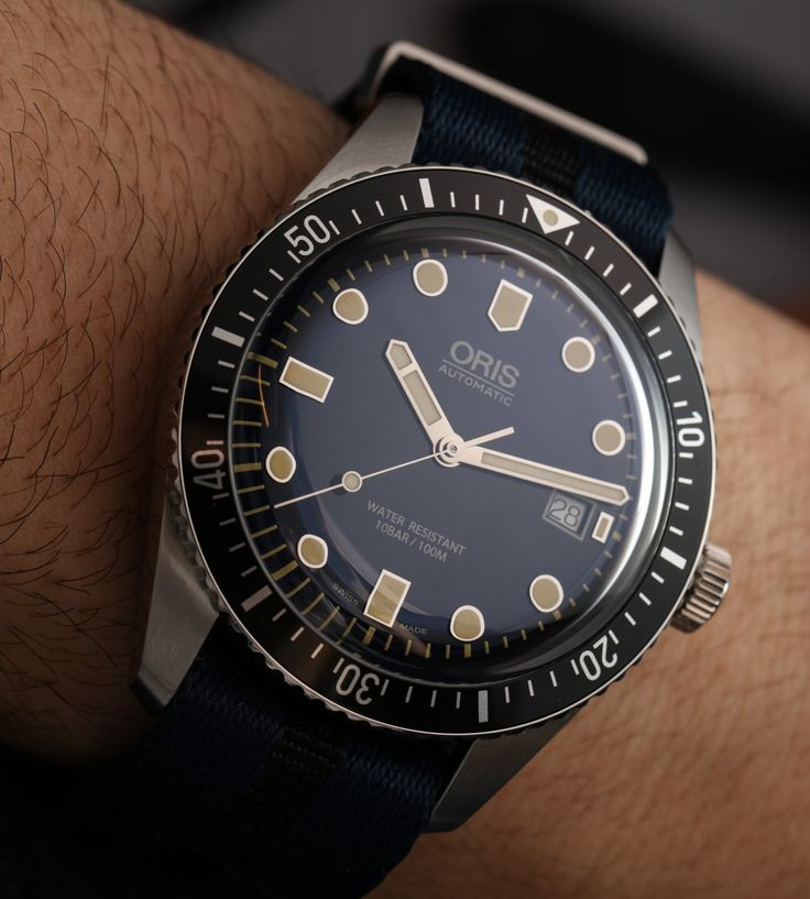 "Oris Divers Sixty-Five 42mm Watch Hands-On - by James Stacey - see the full photo gallery & read more on aBlogtoWatch.com ""High on my list of favorite watches from Baselworld 2016 is the Oris Divers Sixty-Five 42mm (aka 'Sixty-Five 42'). Sharing a few common traits with the previous smash-hit Divers Sixty-Five, this new 42mm model is a bit bigger and has an entirely different dial, with a more traditional dive watch layout and a lovely gradated blue coloring..."""