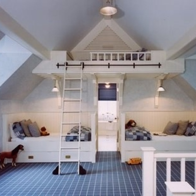 Awesome idea or more space in an attic bedroom
