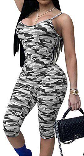 bc57d6b17033 Rrive Womens Sexy Camo Sleeveless Knee Length Shorts Jumpsuit Romper ...