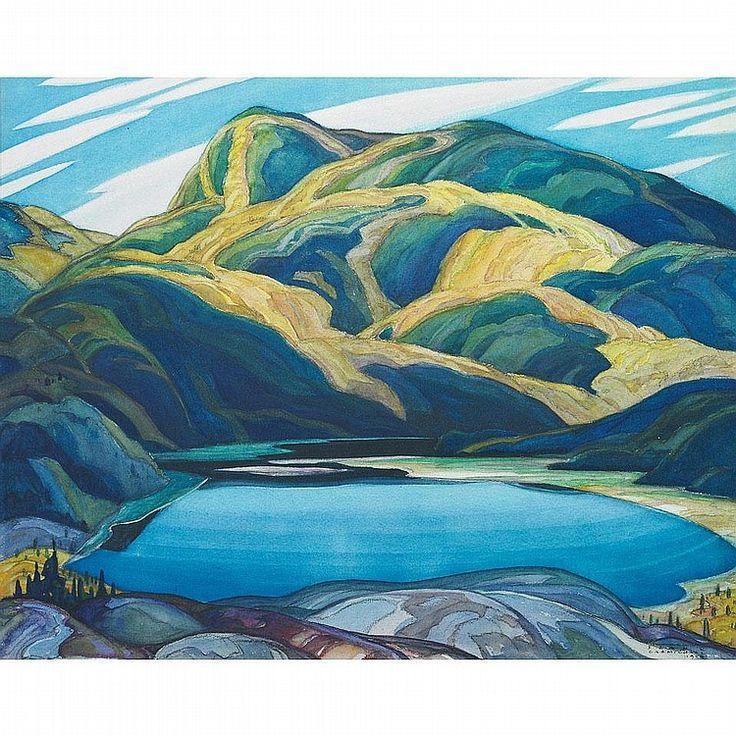 """Lone Lake,"" Franklin Carmichael, 1929, watercolor, 17.5 x 22"", private collection."