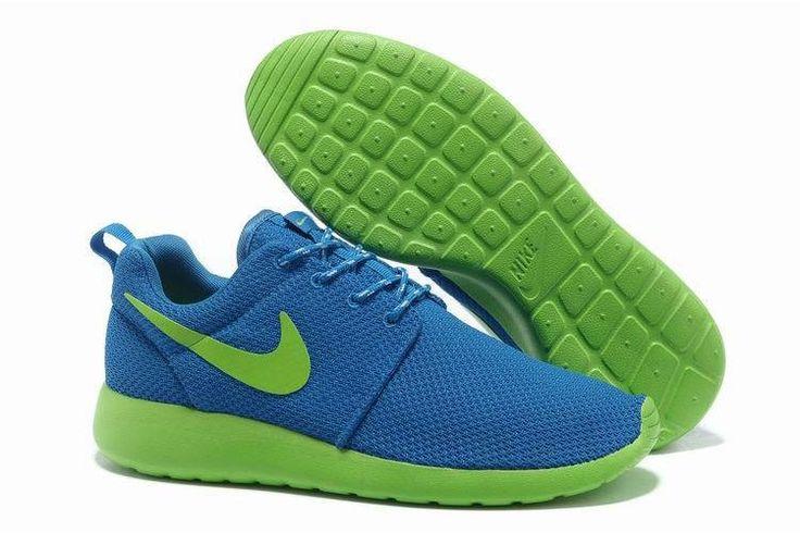 Nike Roshe Run Mesh Blå Grøn Herre