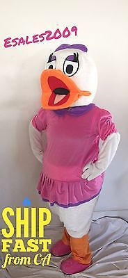 Daisy Duck MASCOT COSTUME BIRTHDAY PARTY HALLOWEEN ADULT NEW Pink Girls Baby NEW