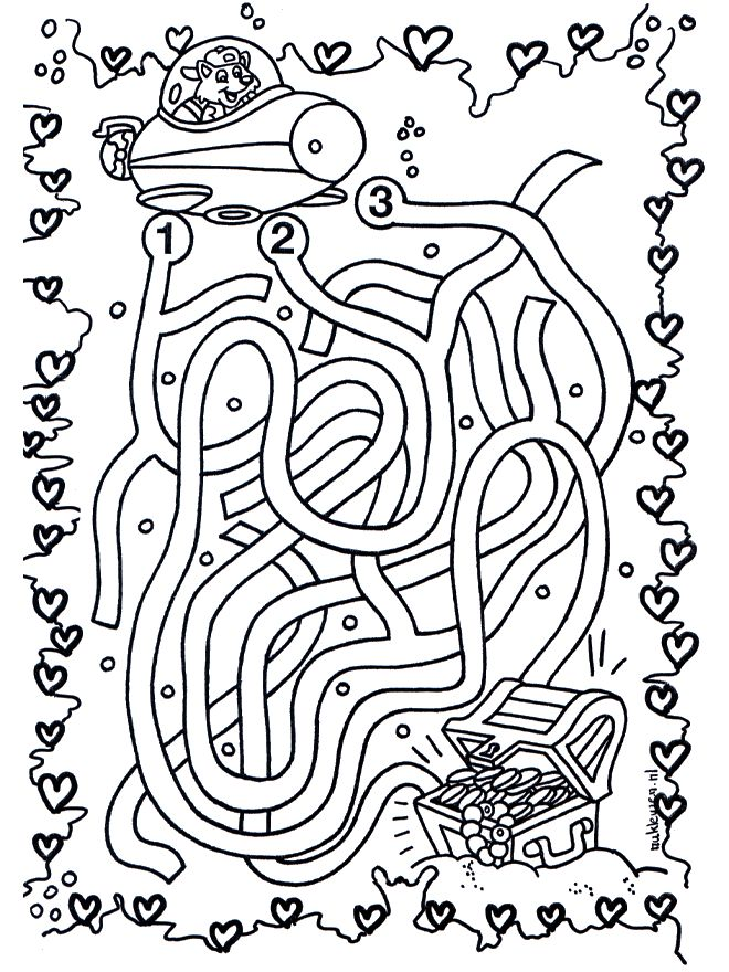 labyrinthe Coloriage
