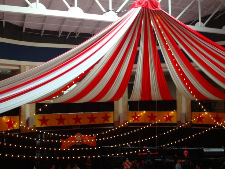 Charlotte NC Ceiling Fabric Treatments - Event Decor
