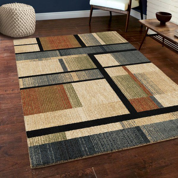 Diamondine Blue Beige Green Area Rug Has The Perfect Design And Color Scheme For The Modern Home The Exquisite Detail In The Geo Area Rugs Shag Area Rug Rugs
