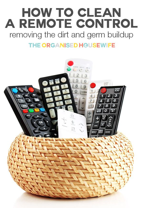 Dirt, dust and germs build up on remote controls, like other surfaces in the home. Follow these tips and steps to clean remote controls | The Organised Housewife