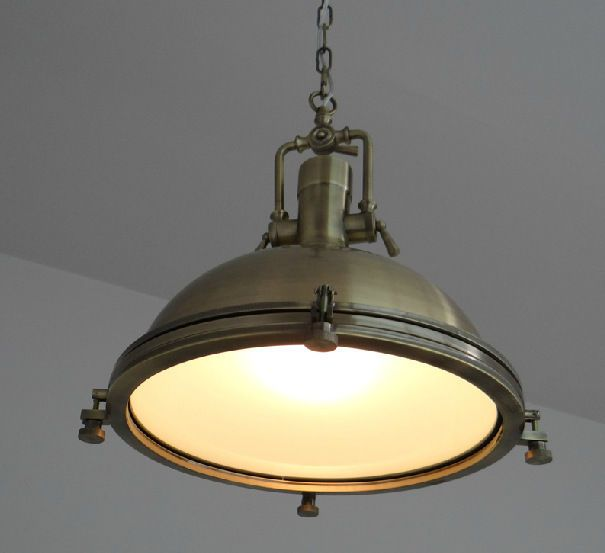 Hamptons vintage industrial nautical bronze pendant lamp light marine bar